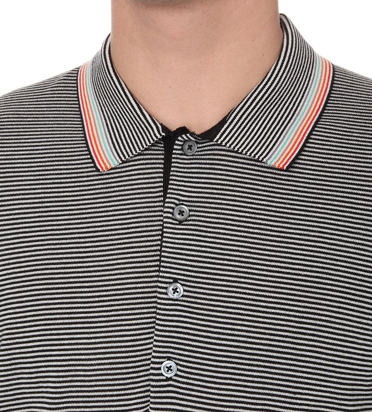 PS BY PAUL SMITH - Contrast-stripe knitted cotton polo shirt | Selfridges.com