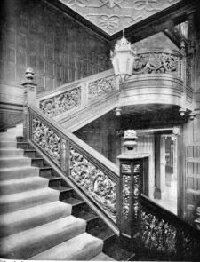 Interior of the mackay house harbor hill from photographs and text