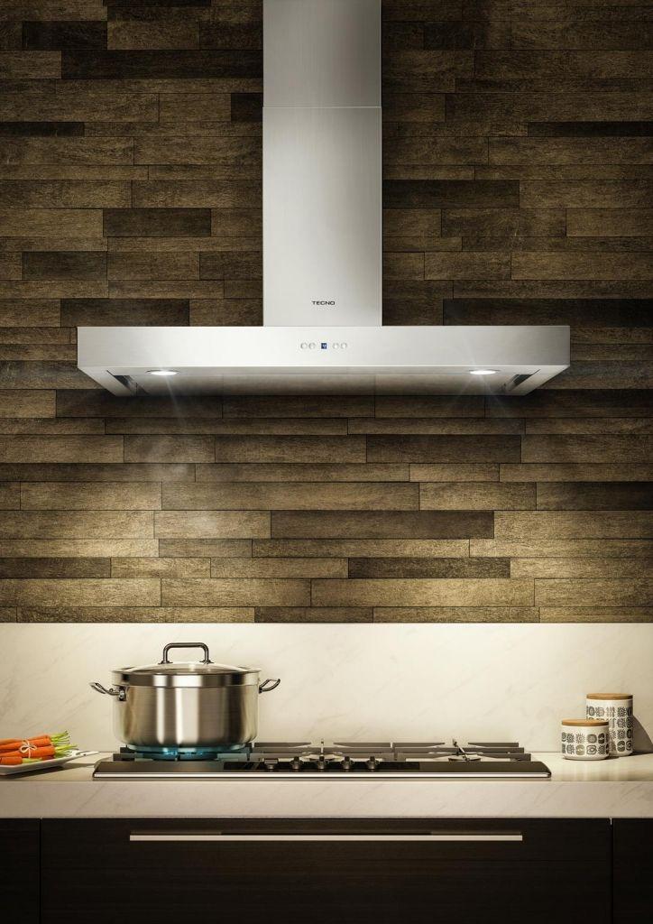 Coifa de parede TC 09.  Coifa TC09 aplicada sobre um cook top THS 9T0 TECNO. #TECNO #COIFA