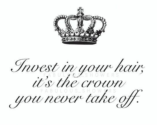 Hair Salon Sign Printable Invest in your Hair by FabulousShowers  Perfect for hair salon decor, vanity decor, bathroom decor, beauty salon, hairstylist, weave artist, chic bedroom decor, elegant salon decor