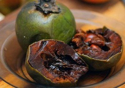 Fruit Warehouse: Black Sapote ( Chocolate Pudding Fruit)- I am definitely going to have to try these sometime
