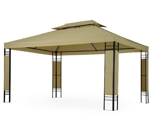 Large Outdoor Gazebo 3x4m Double Roof Party Pavilion Garden Canopy Marquee Tent  #OutdoorGazebo
