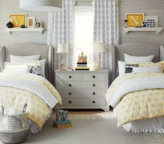 Slaapkamer Ideeen Tweeling : Pottery Barn Kids Rooms Girls