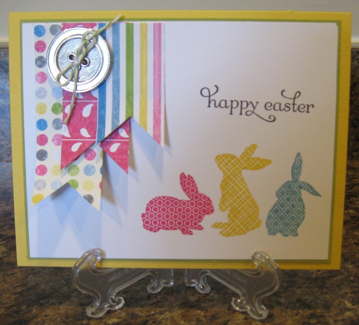 Amy's Addiction: Ears to You!Scrapbook Cards, Cards Ideas, Easter Cards, Easter Spr, Stamps Sets, Cards Easter, Stamps Ideas, Amy'S Addict, Amy Addict