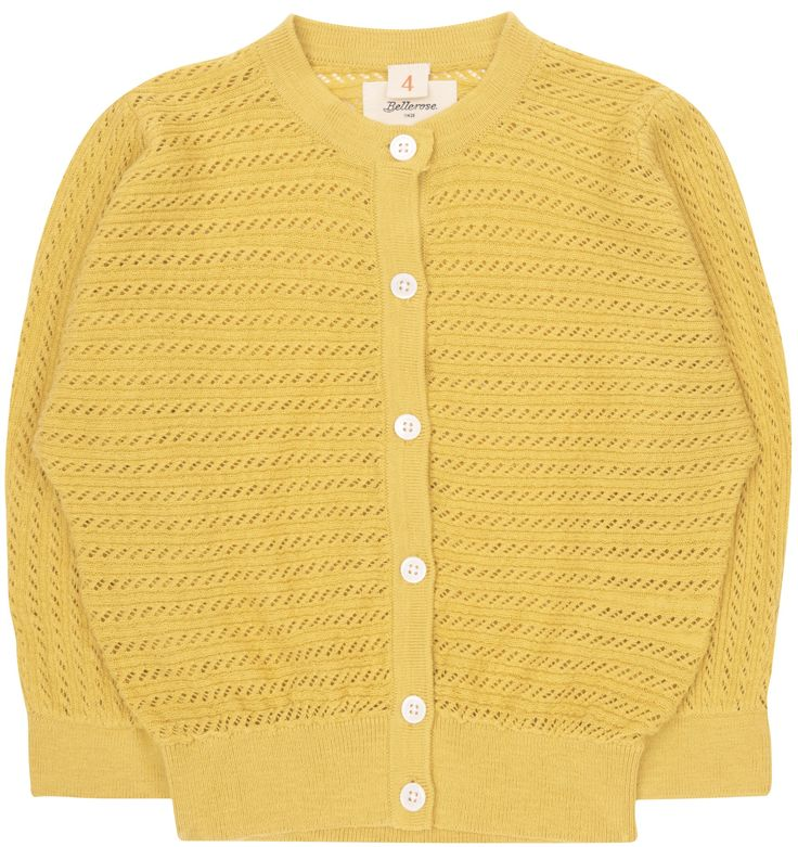Shop The Bellerose Girls Guillen Cardigan In Yellow At Elias & Grace. Browse The Cutest Girls Clothes From Bellerose, Handpicked By Elias & Grace