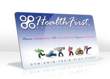 Gym membership card printed by Magicard printers