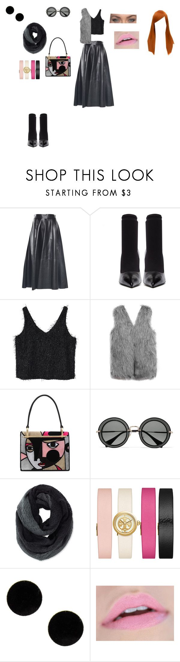 """chic outfit"" by helena94-1 on Polyvore featuring Balenciaga, MANGO, WithChic, Prada, Miu Miu, Pistil, Tory Burch, MM6 Maison Margiela and polyvorefashion"