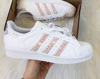 newest 52028 cf9a7 Preschool Adidas Original Superstar Made with SWAROVSKI® Xirius Rose  Crystals - White monochrome