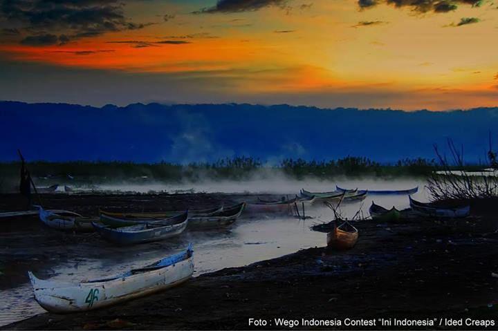 Muara air panas di Danau Limboto, Gorontalo