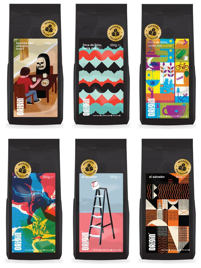 30 Creative Coffee Packages  - The Dieline - Origin Coffee