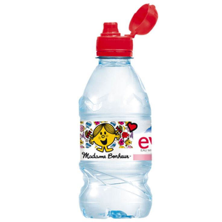 Packaging: A reusable & recyclable transparent plastic bottle, with ergonomic design. An easy grip with a plane part and a hollow that avoids dropping the bottle. The shape of the cap reminds one of the nipple or mother breast. The set: Red it is a bright and warm colour often associated with love and produced a sharp contrast with the effect of water clarity. The eye is immediately attracted to the bottle. The label is a thin white band shared equally between the brand and the happy…