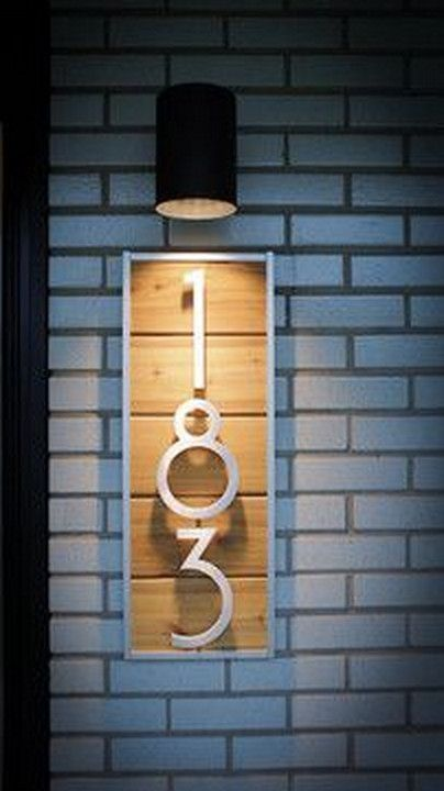 lighted house number plaque - All You Need To Know About The House Number Plaque – Garden Design