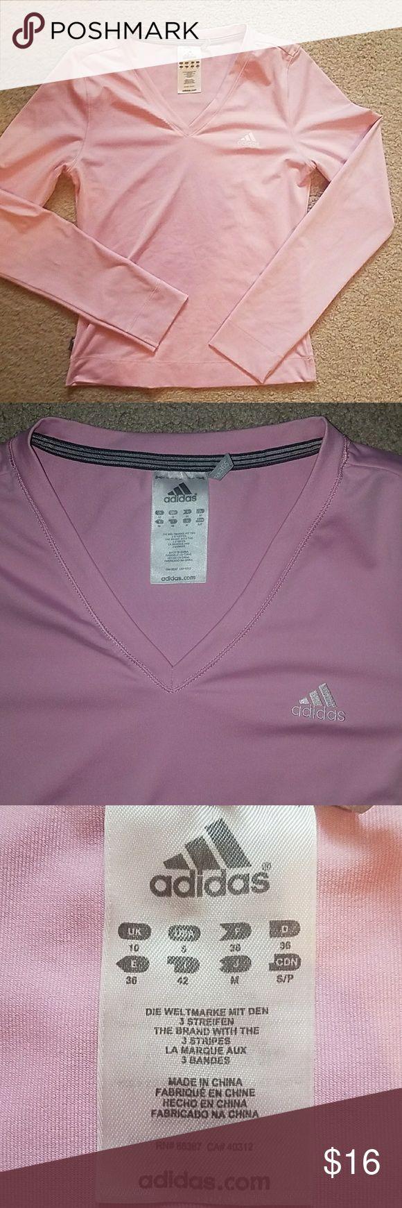 Adidas workout shirt Pink long sleeve adidas shirt. adidas Tops Tees - Long Sleeve