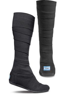 TOMS Shoes Black Vegan Wrap Boots. ''very NINJA''