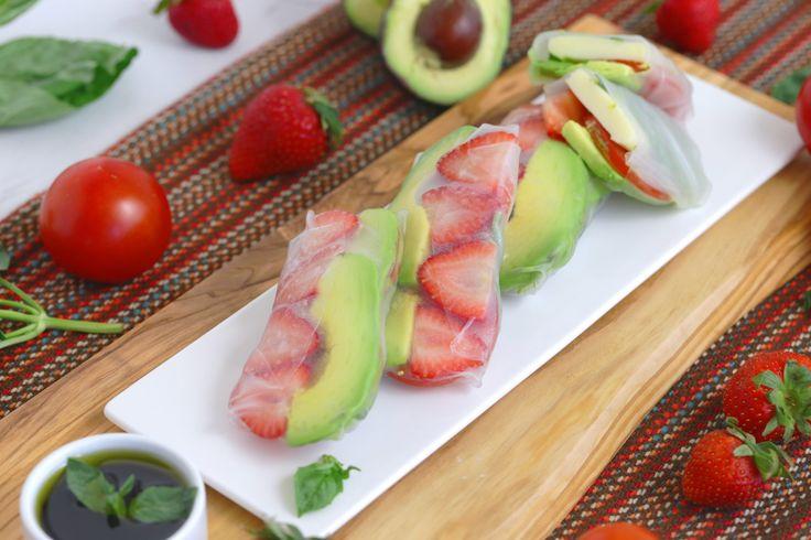 Fruity Caprese Summer Roll | Healthy Snack Recipe or Lunch Recipe | Gluten-Free Sandwich Alternative!