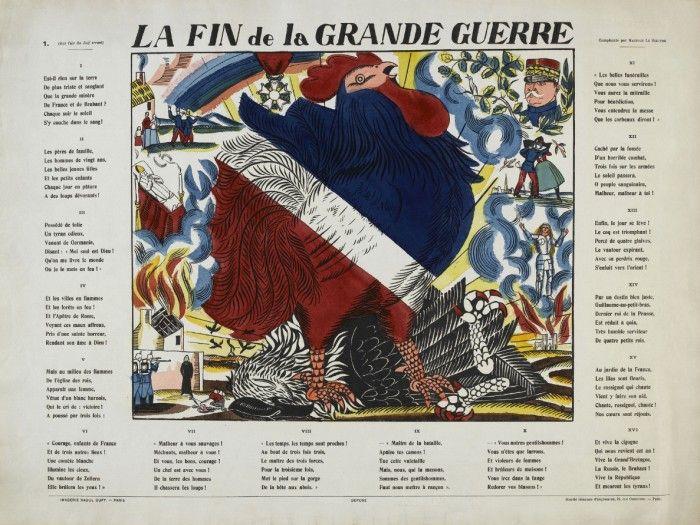 Raoul Dufy: A Nagy Háború vége, 1915, színes fametszet, © Musée national d'art moderne Paris,  bpk/CNAC-MNAM