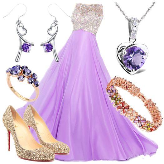 A-line Bateau Rhinestone Prom Dresses/Evening Dresses #GF838