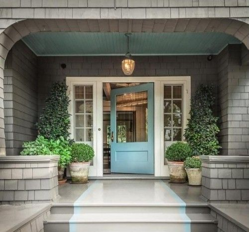Superior DIY Décor: Paint The Porch Ceiling An Unexpected Shade Of Teal To  Compliment The Front
