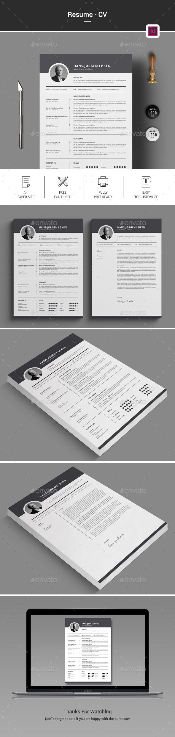 CV Stationery Print Templates Download here