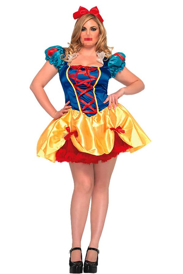 Blue Ladies Fairy Tale Snow White Sexy Disney Costume on sale at reasonable…