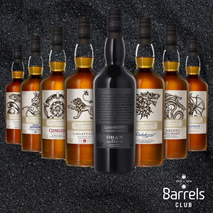 The Game of Thrones Single Malt Whisky Collection . . . To