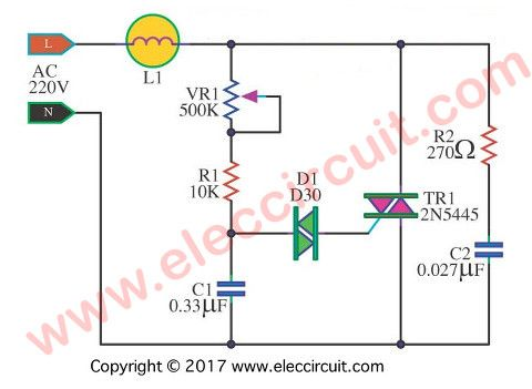 circuit diagram of a thyristor based simple dimmer circuit wiringcircuit in addition diac triac dimmer ac also dimmer circuit diagram circuit diagram of a thyristor based simple dimmer circuit