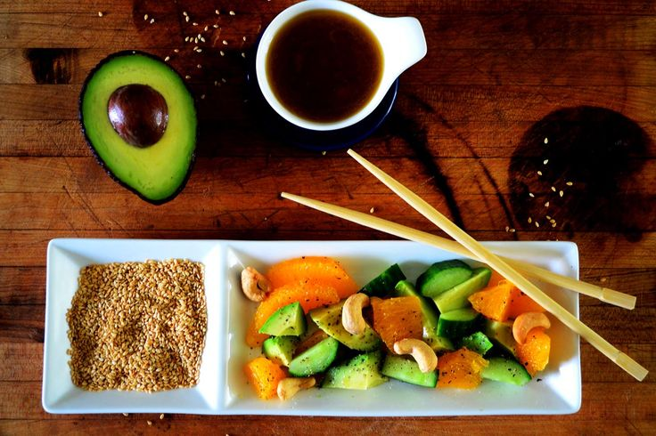 Avocado and Orange Salad with Toasted Sesame Dressing