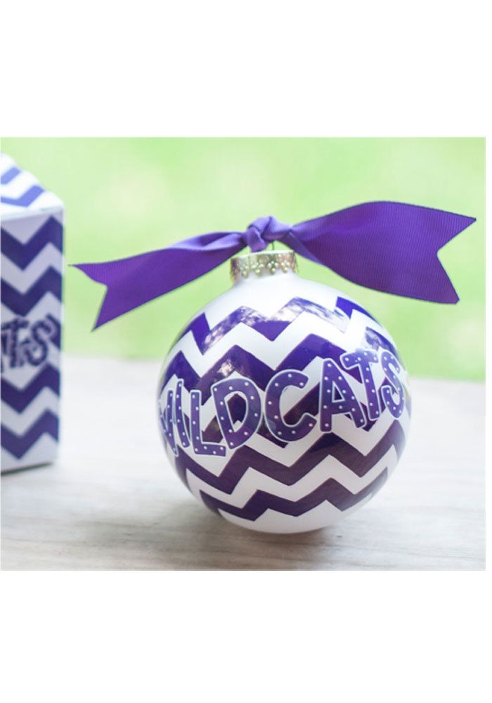 K State Wildcats Purple/White Chevron Ornament Part 42