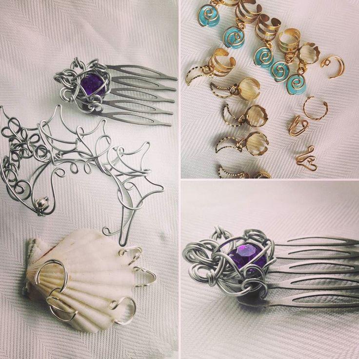 More of my handmade off to new homes this week! #jewelrydesigner #hairglam #elf #locjewelry #dreadbeads #toronto #fashiondiaries