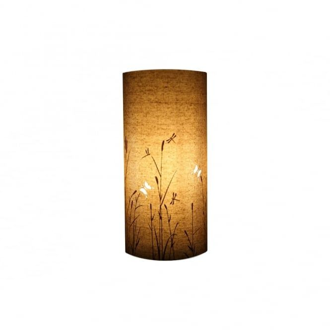 A Cylindrical Table Lamp In Neutral Colours That Will See This Sit Perfectly Any Room Subtlety Depicting Butterflies When The Is Off