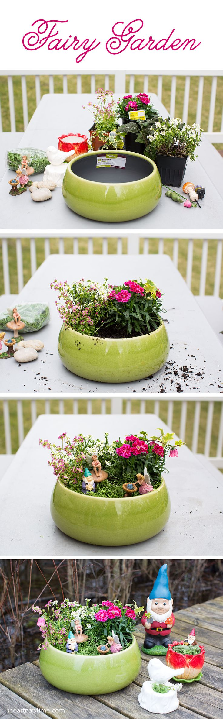 DIY Planter Fairy Garden - for indoor or outdoor use that the kids can help create! Such a fun way to add a little magic to your yard. #BHGLiveBetter