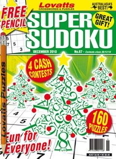 Super Sudoku 67 Christmas cover