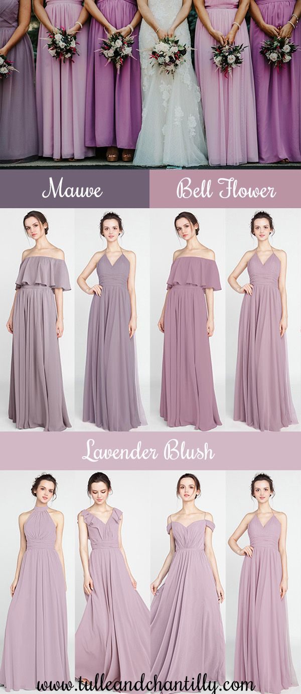 62efc773ad4 Lavender blush and mismatched purple colors of bridesmaid dresses  wedding   weddinginspiration  bridesmaids  bridesmaiddress  bridalparty  maidofhonor  ...
