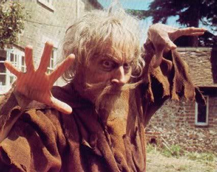 Catweazle - I actually found him quite scary!