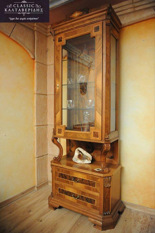 Combination of Greek King Walnut Treewood and Roots,Handmade,Elegant Palacio Cabinet. by CaltaveridisClassic on Etsy