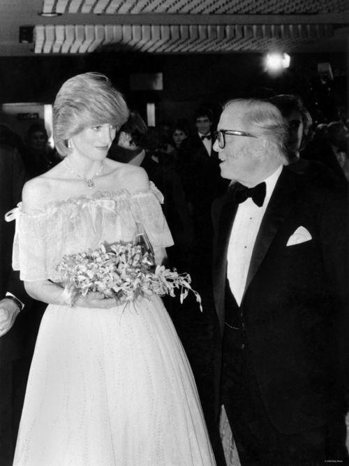 Tumblr\ Princess Diana and Sir Richard Attenborough at London Premiere of Oscar winning film Gandi.