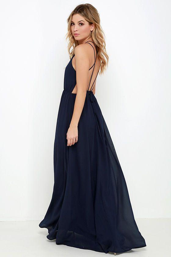 Comet's Tale Midnight Blue Maxi Dress at Lulus.com!