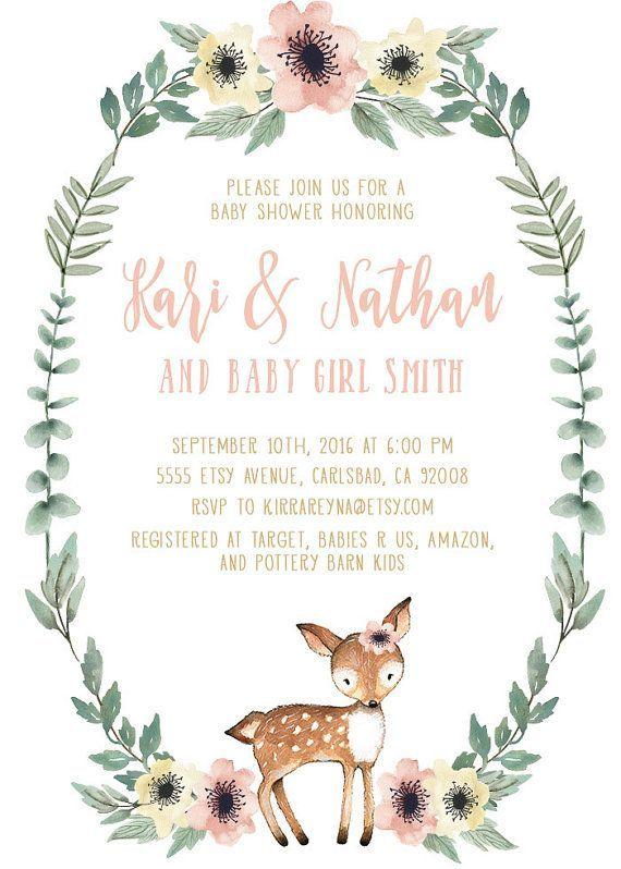Girl Deer Baby Shower Decorations