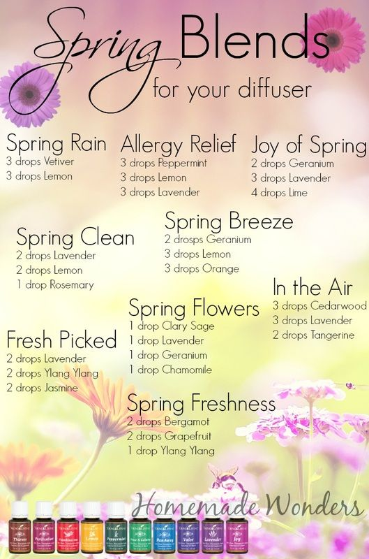 Spring Diffuser Blends - Homemade Wonders