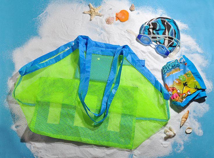 Детские игрушки пляж складной мешок отделка сумки большие изготовленный на заказ логос младенца морские путешествия нейлоновая сетка сумки - Taobao