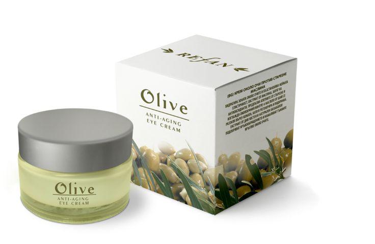 Refan Anti Aging Olive hidrateaza pielea sensibila din jurul ochiilor si o lasa mai elastica si mai ferma.  Detalii produs: http://www.danka.ro/prod/crema-de-ochi-anti-aging-olive-346