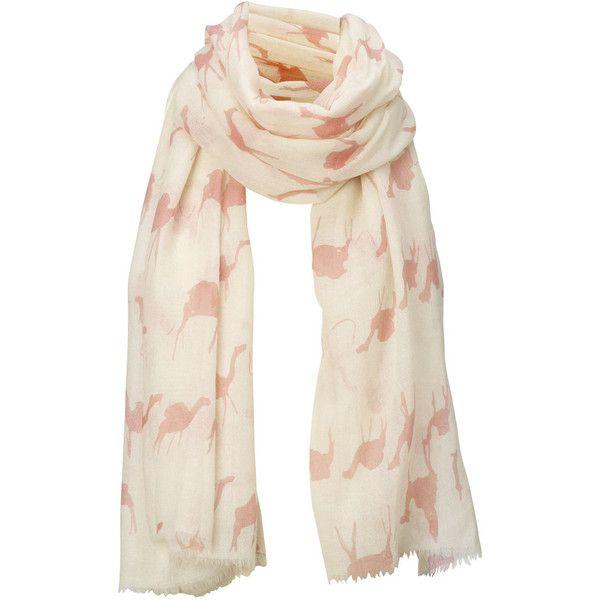 large pink camel print merino wool scarf virginia johnson