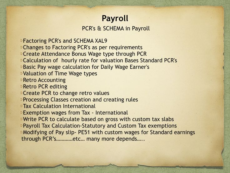 SAP HR ONLINE TRAINING ONLY ON PCRu0027S AND SCHEMAu0027S CHECK OUT OUR - sap hr payroll consultant resume