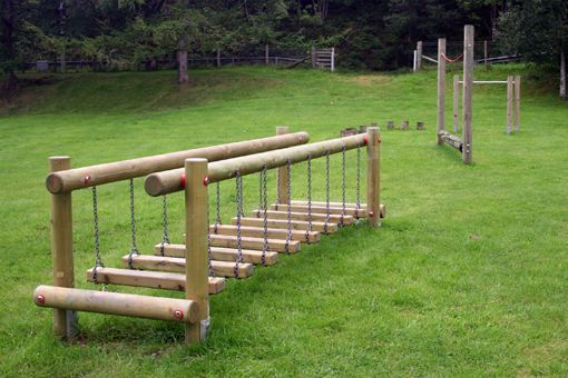 Cooler Kids - Wobble Step Bridge -- several cool ideas for an activity/agility trail from a company in Scotland #thatseasier #kids #fun
