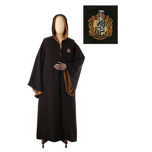 Hufflepuff Robe This authentic Hufflepuff robe has contrasting yellow lining, pockets and an embroidered patch of the house crest. Description from pinterest.com. I searched for this on bing.com/images