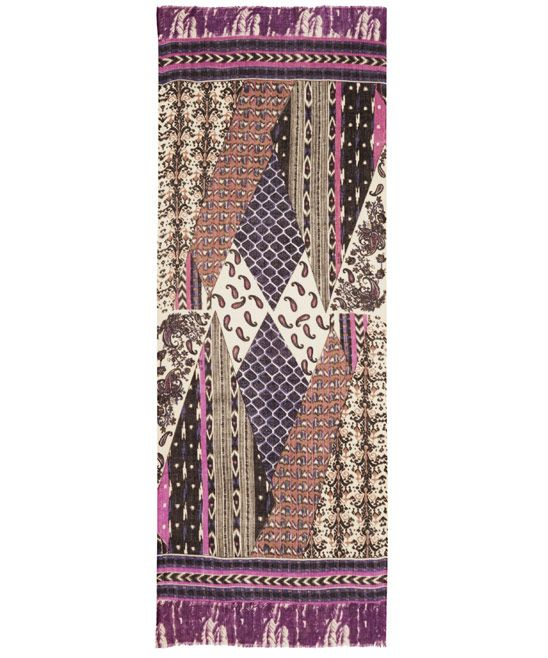 Me and Kashmiere Purple Adorn Cashmere Scarf | Scarves by Me and Kashmiere | Liberty.co.uk