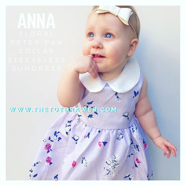 Annie is standing up in our cute little dress.. Soon, she will be swirling and twirling in it.. 🙌💃 ANNA Floral Peter Pan Collar Sleeveless Sundress, available in pink and purple.. See more photos and review from @miss.annie.pennie . . . . . #thetotdrawer #baby #babies #babygirl #babyclothes #babyfashion #kidsfashion #kidswear #kidstyle #childrenfashion #childrenswear #toddler #toddlerapparel #toddlerfashion #trendykidz #trendybaby #trendykids #fashionkids #fashionkidsworld #fashionbaby…