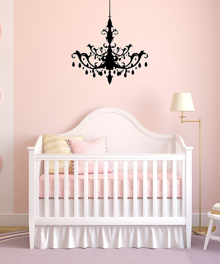 Black Chandelier Wall Decal Kids Pinterest Babies And Nursery