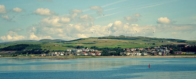 Winds turbines, Ardrossan Harbour - Scotland