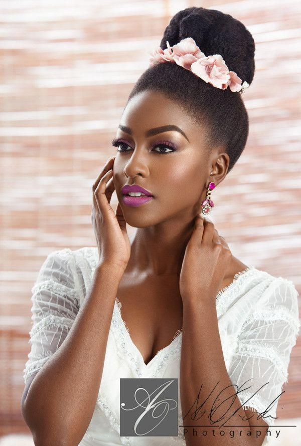 by Joy Adenuga Loveweddings Really like the lip colour but would personally go a little easier on the brow bone highlight. Beautiful look altogether